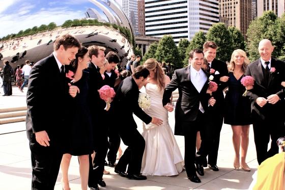 Bride at the Bean