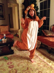 Fulfilling your little sister's request to model her Rilakkuma costume? Everybody got time for that.