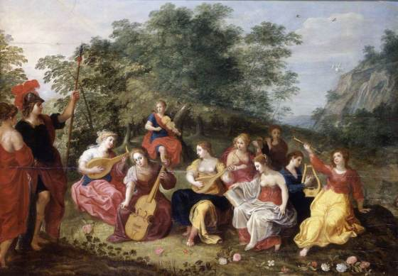 Minerva and the Nine Muses