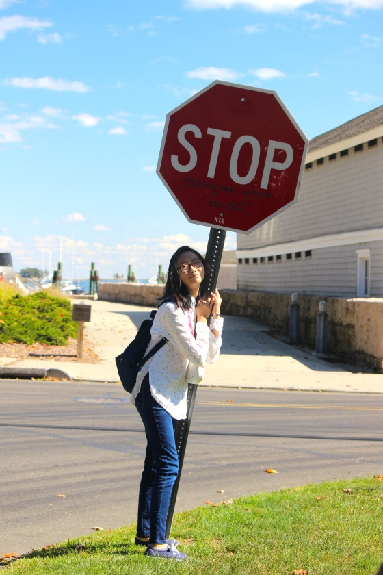 "The stop sign says, ""Stop telling me what to do."""
